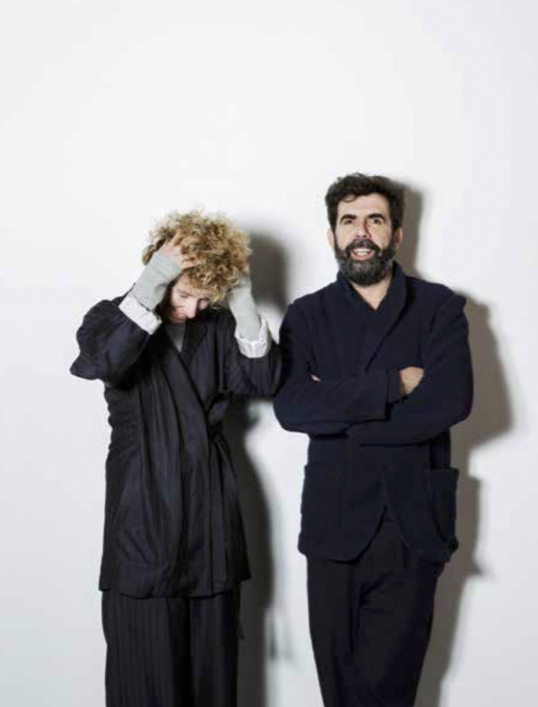 Portrait photograph of Norway designers Jannicke Kråkvik and Alessandro D'Orazio