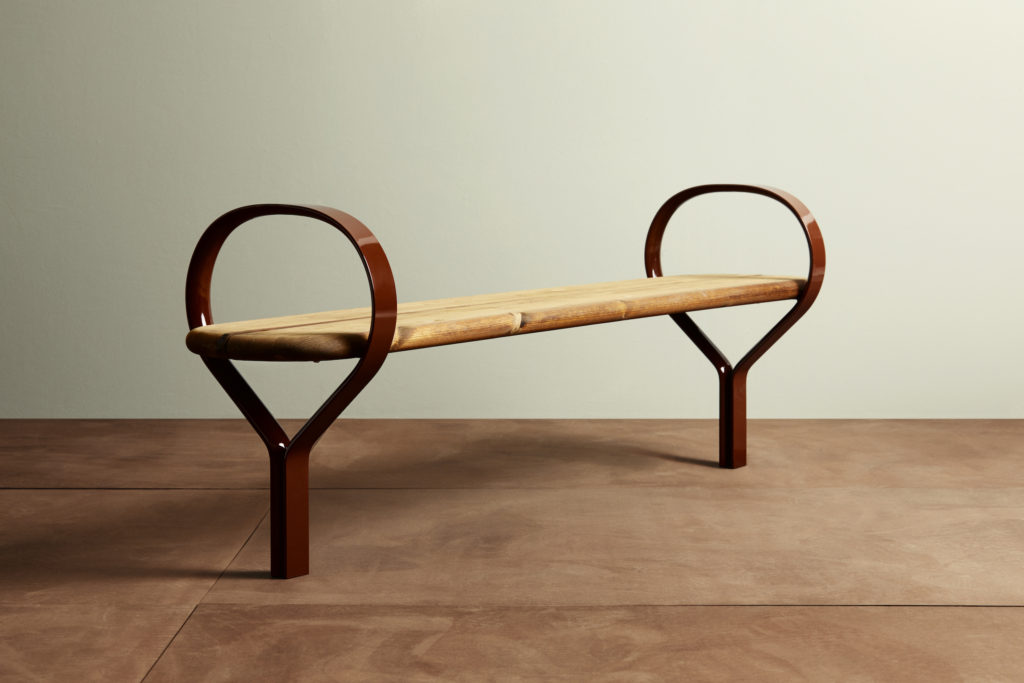 FOLK Bench by furniture brand Vestre, based is Oslo