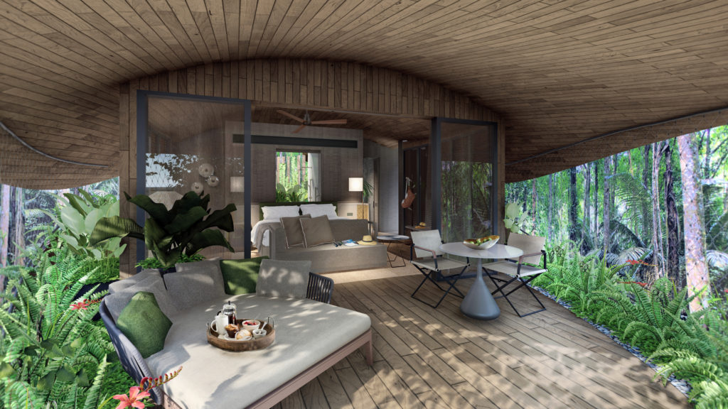Render of Mandai Resort Singapore Interior