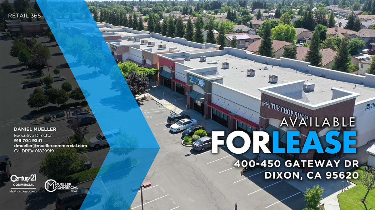 400 - 450 Gateway Drive, Dixon, CA. Available For Lease