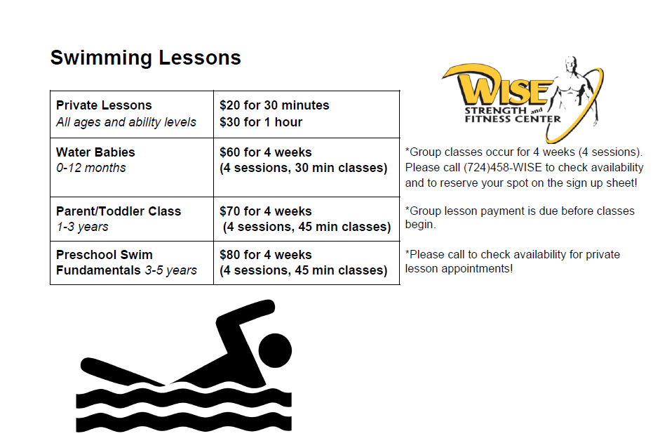 Swim Lesson Pricing