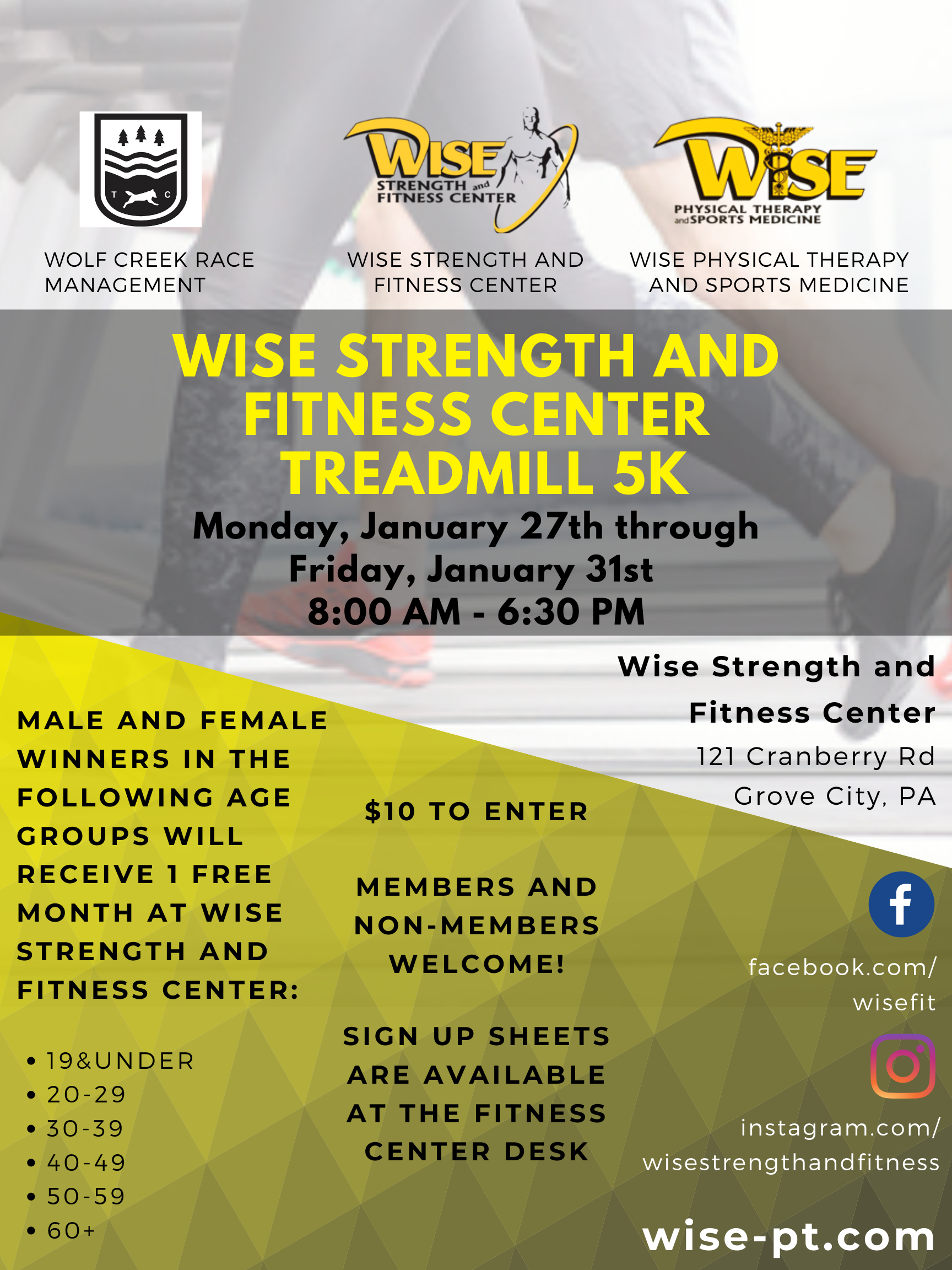 Wise Strength and Fitness Treadmill 5k