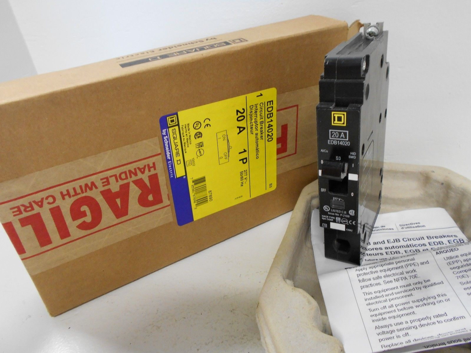 Square D 20amp EDB 14020 Breaker New Schneider Electric