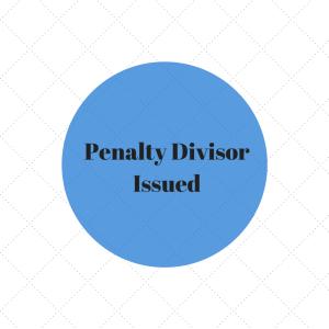 Penalty Divisor Issued