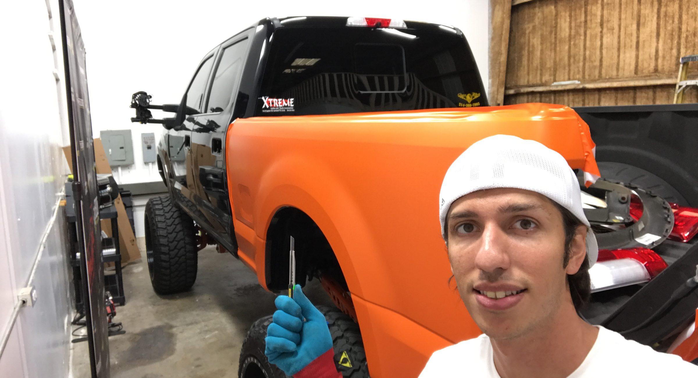 Color change black to orange Omar's Truck