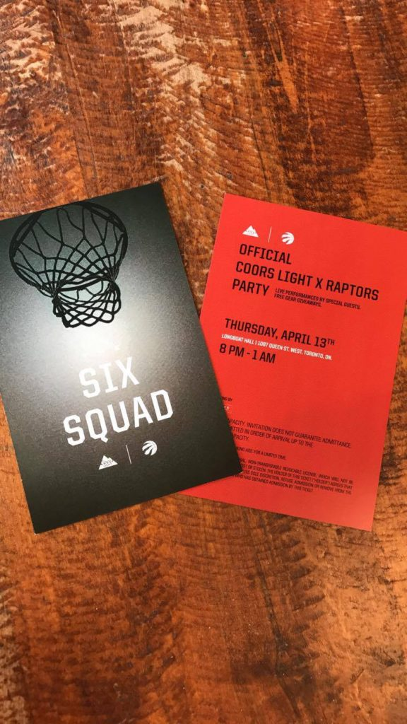 Coors Light x Raptors Playoff Party