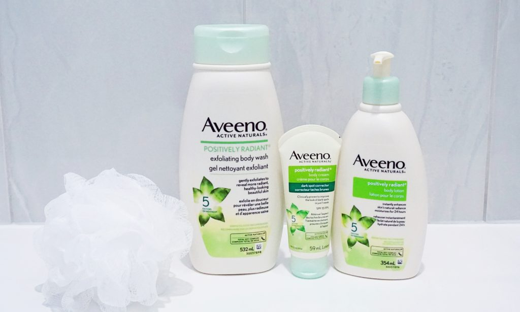 Aveeno Positively Radiant Body Line