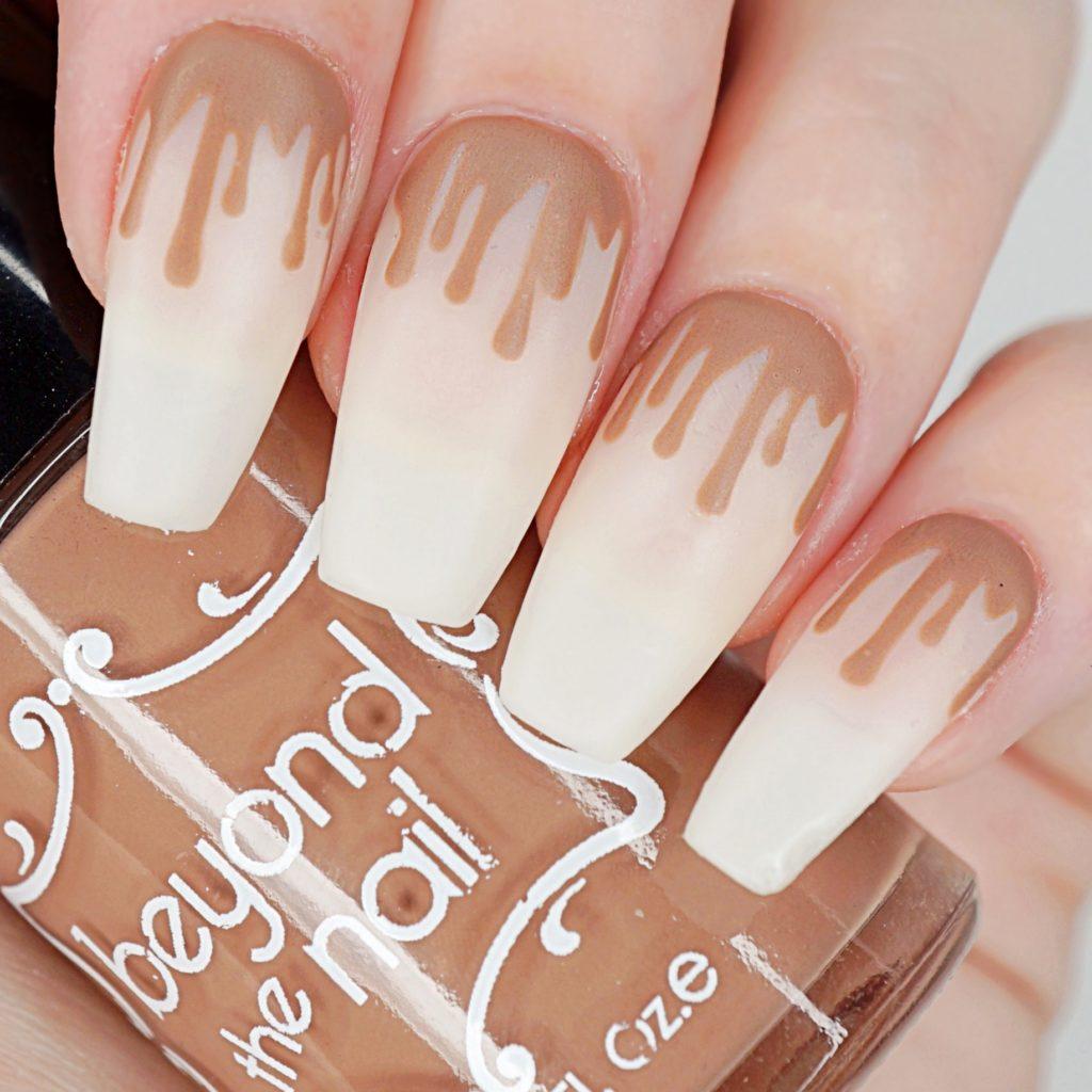 Milk Chocolate Drip Nails