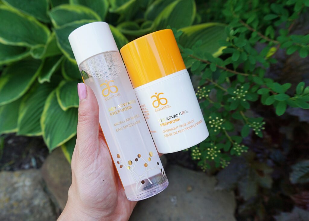 Arbonne RE9 Advanced Prepwork Micellar Water & Overnight Face Jelly