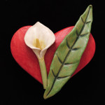 Sandra Luehrsen Red Heart with Calla