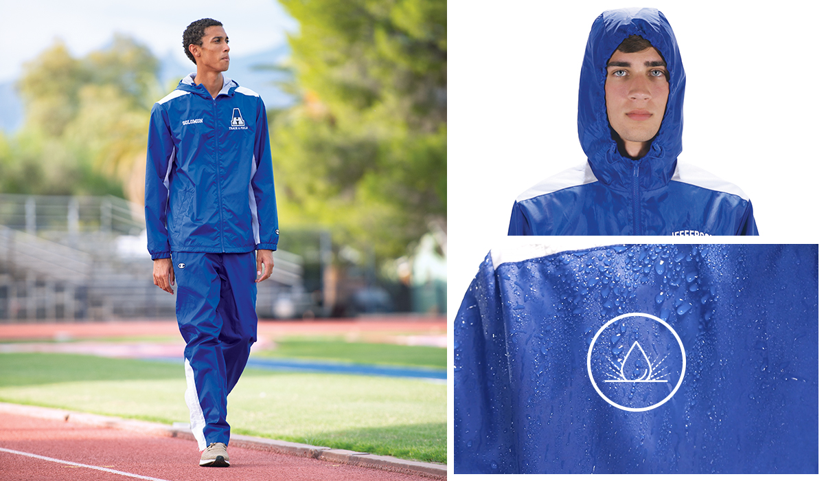 Champion Teamwear Wind and Water Resistant Track Apparel