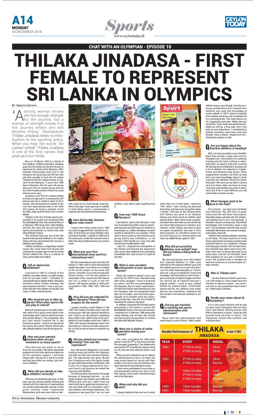 Interview with Thilaka