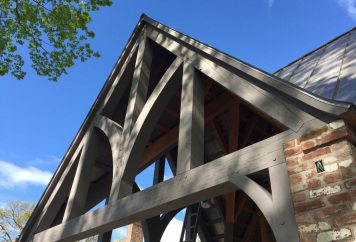 New-Douglas-fir-trusses-texture-and-wire-brushed-light-grey-stain-1