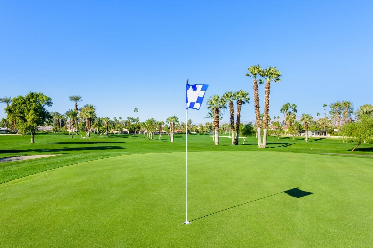 A golf course in a luxurious country club