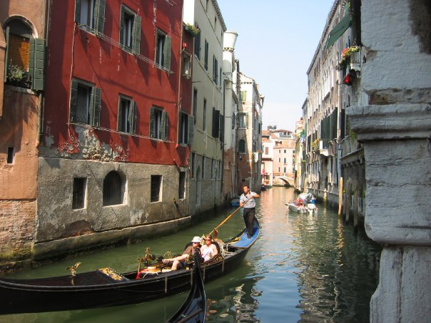 Travel to Europe - the canals of Venice. Italy