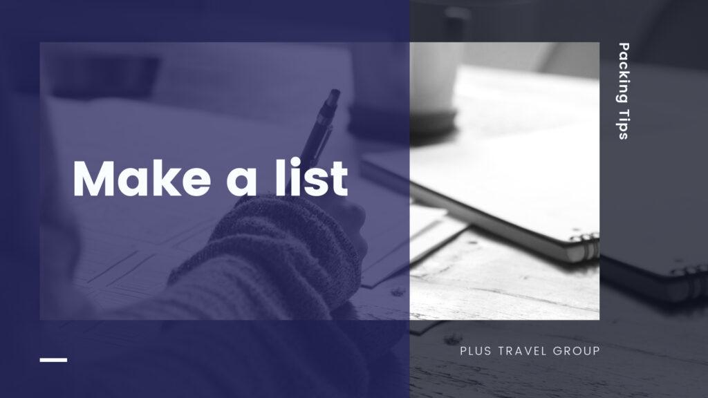 make a list packing tip