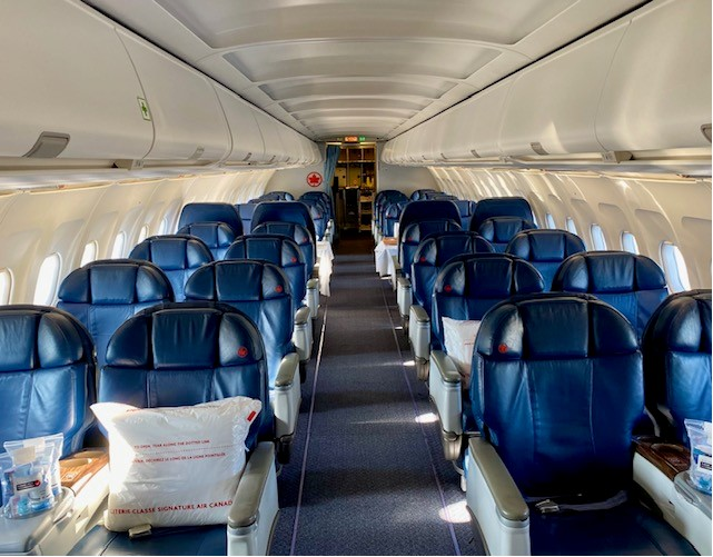 Onboard the luxurious Air Canada Jetz aircraft