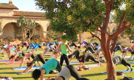 Yoga at San Juan Mission in OC!