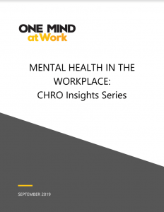 One Mind at Work CHRO Insight Series 2019
