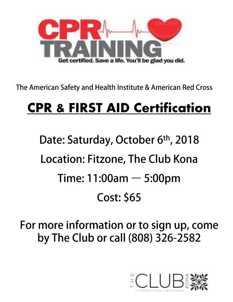 CPR First Aid Cert