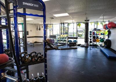 The Club Kona workout area