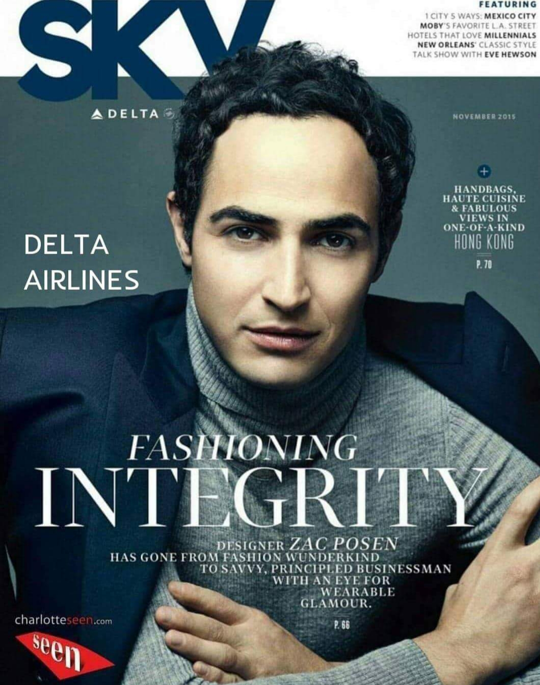 """DELTA AIRLINES/ZAC POSEN Fashion Designer working with Charlotte Seen In 2016 Charlotte Seen was honored to be in the launch for Zac Posen's designs for Delta Airlines new uniforms. """"Delta Air Lines gave a first look at long-awaited new crew uniforms for more than 60,000 workers in 2016 and was very honored to have Charlotte Seen to assist us with our models, logistics, show productions and back of house."""" said E. Dimbiloglu. Charlotte Seen had the pleasure to work with celebrity New York fashion designer Zac Posen, whose work has included outfits for high-profile women such as first lady Michelle Obama, Uma Thurman, Gwyneth Paltrow, Claire Danes and Rhianna. Given Posen's status as a star of the red carpet, set the partnership with Delta and has heightened anticipation among industry observers about the carrier's new look."""
