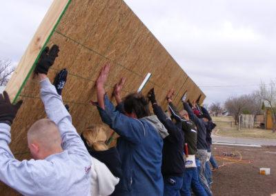 Raising a wall
