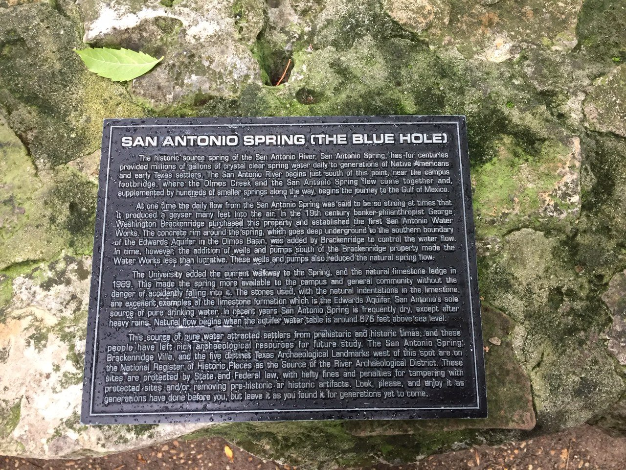 Sign tells story about the Blue Hole