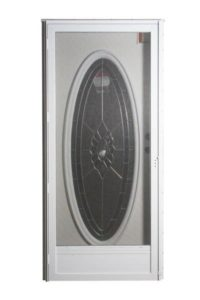 Combo Door With Oval Glass And Full Glass Storm