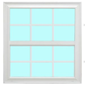Vinyl Window With Low E Argon Gas & 6x6 Grid