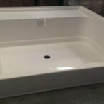 "60"" x 48"" Fiberglass Shower Pan (White or Bone)"