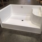 "60"" x 42"" FiberglassShower Pan (White or Bone)"