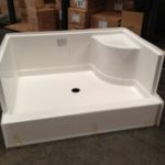 36x48 Fiberglass Shower Pan (White or Bone)