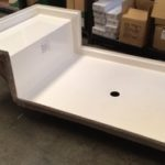 42x72 Fiberglass Shower Pan (White or Bone)