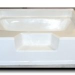 5000 60x48 Fiberglass Garden Tub (White or Bone)