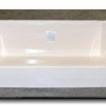 54x27 Fiberglass Shower Pan (White or Bone)
