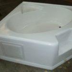 5454CARS 54x54 Fiberglass Corner Tub (White or Bone)