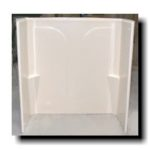 54x28 1 Piece Fiberglass Tub Surround (White or Bone)