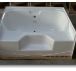 6048JW 60x48 Fiberglass Garden Tub (White or Bone)