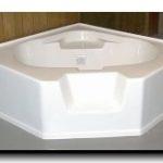 6060ca 60x60 Fiberglass Corner Tub (White or Bone)