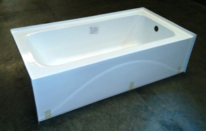 60x34 Fiberglass Tub (RH,LH White or Bone)