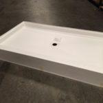 72x42 Fiberglass Shower Pan (White or Bone)