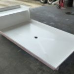 96x48 Fiberglass Shower Pan (White or Bone)