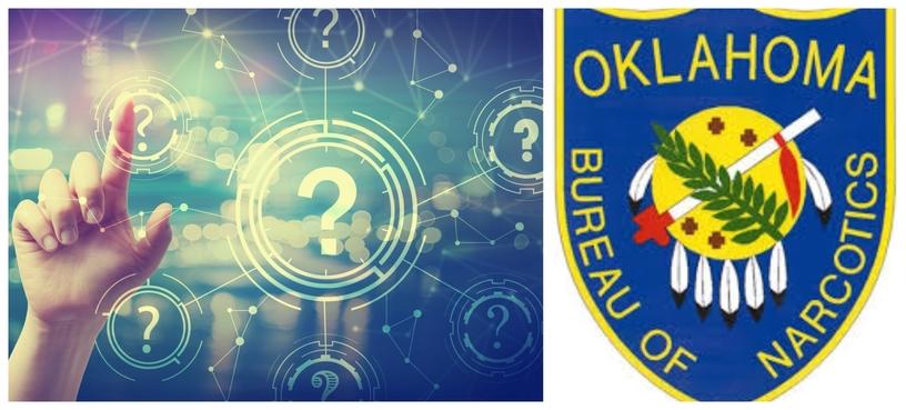 Oklahoma Bureau of Narcotics shield patch