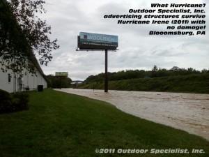 image Billboard Survives Hurricane Irene Bloomsburg PA