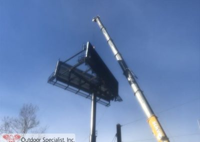 Custom billboard by Outdoor Specialist, Inc.