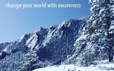 change your world with awareness