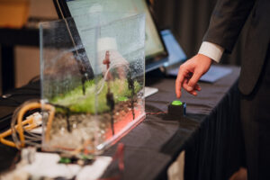 Soil moisture sensor demonstration image