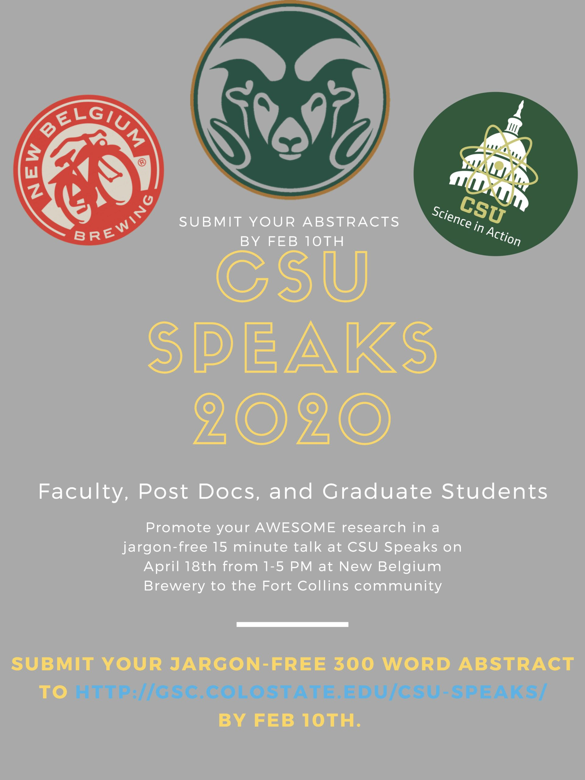 CSU Speaks Call for Abstracts