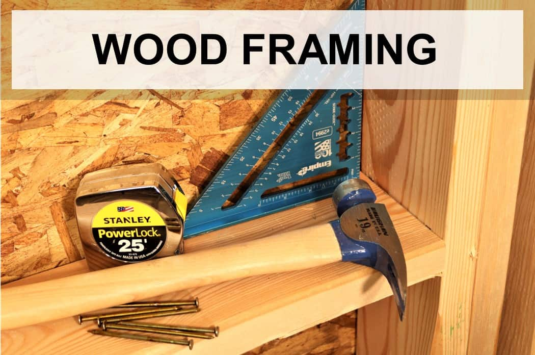 top wood framing